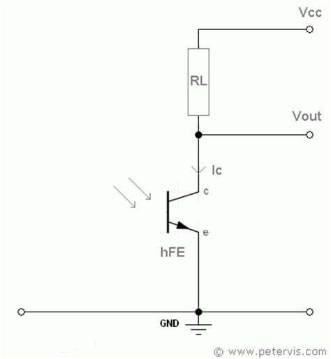 phototransistor base resistor phototransistor