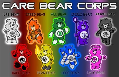 lantern corps colors these bears all emotional inspired by the