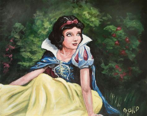 A Snow White My Painting By Cliford417 On Deviantart