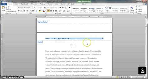 how to format apa style in word 2010 creating an apa style header in microsoft word 2010 and