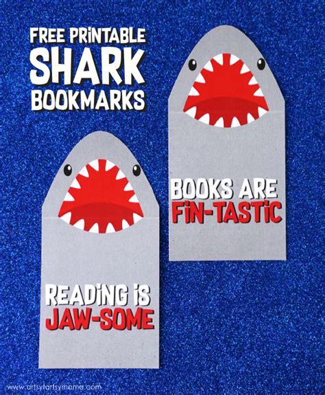 printable shark bookmarks free printable shark bookmarks artsy fartsy mama