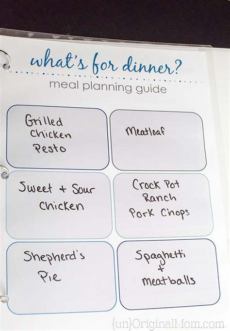 free printable meal planning guide free printable flexible meal planning guide unoriginal mom