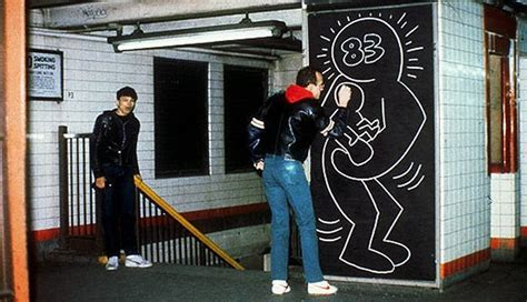chalk paint new york haring created hundreds of drawings in the new york subway