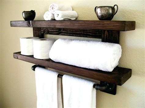 Bath Towel Shelf Rack by Shelf With Towel Hooks Animea