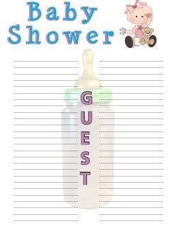 rsvp template for baby shower baby shower guest list sorepointrecords
