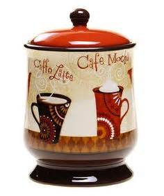 coffee themed kitchen canisters 1000 images about coffee decor on coffee
