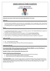 It Procurement Manager by Purchasing Manager Cv Word