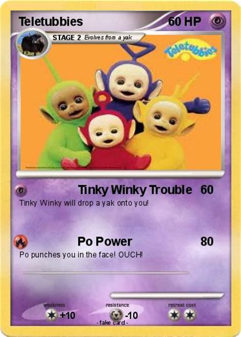 teletubbies cards pok 233 mon teletubbies 39 39 tinky winky trouble my