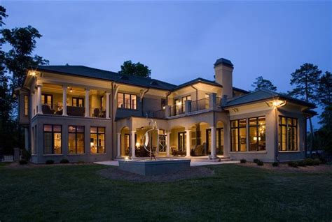 luxury home builders in nc captivating lake and golf course views carolina