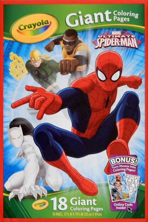 crayola giant coloring pages ultimate spider man spiderfan org comics spider man 18 giant coloring