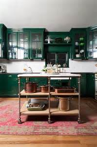 Dark Green Kitchen Cabinets by Dark Green Cabinets And Copper Pots Bailey Mccarth