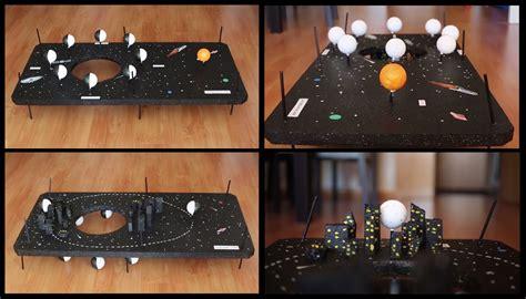 como hacer una maqueta de las 8 fases lunares interactiva la maqueta de la luna colgado por los newtons