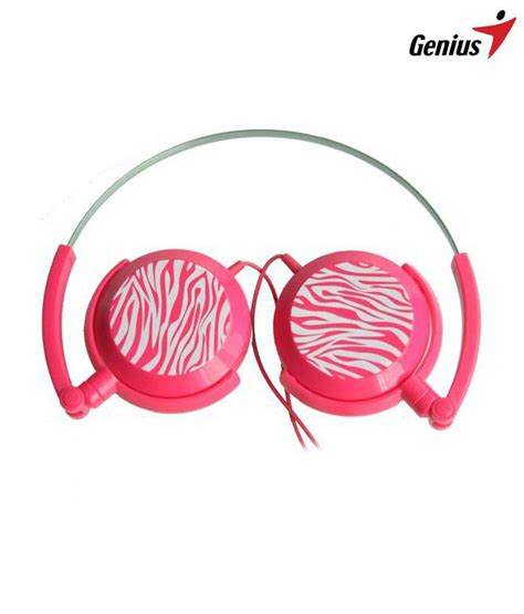 Genius Headphones Ghp 400f buy genius ghp 400f foldable headphones pink at
