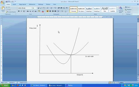 create economic graphs drawing competition diagram in microsoft word