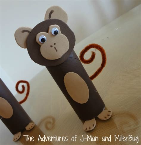 How To Make A Monkey Out Of Paper - toilet paper roll monkeys animal crafts