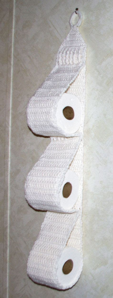 Pattern For Toilet Roll Holder | hanging three roll toilet tissue holder crochet pattern