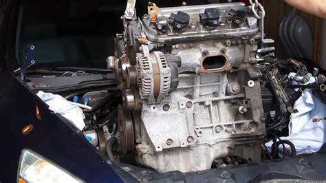how petrol cars work 2000 honda odyssey engine control honda accord v6 3 0l engine swap removal j30a4 2003 2007 youtube