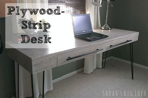 plywood desk you need a lot of cls for this