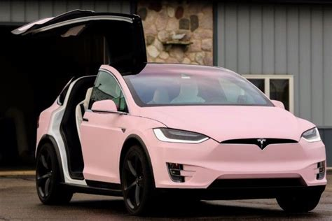 pink luxury cars verity the bubblegum pink tesla model x http