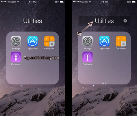 how to rename an iphone how to create rename and delete folders on an iphone or