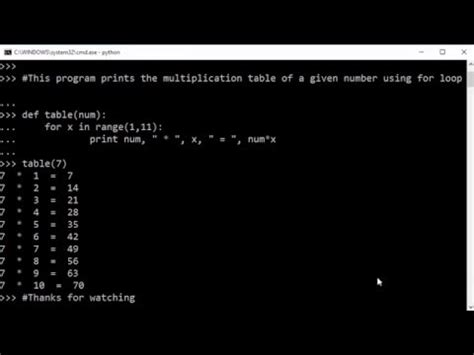 print multiplication table python how to generate a multiplication table using for loop in