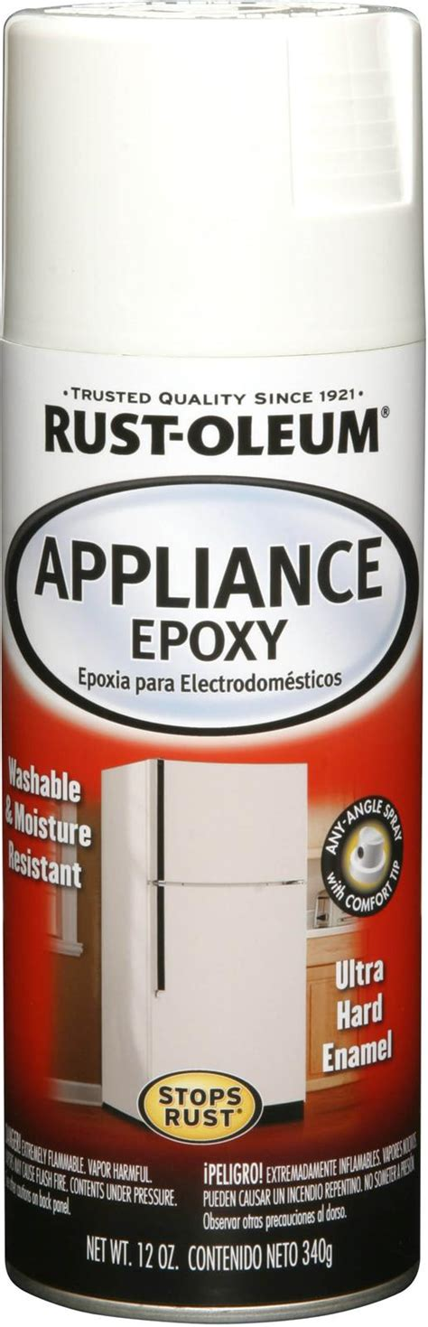 rust oleum paint appliance epoxy enamel semi gloss white aerosol 12 oz each ebay
