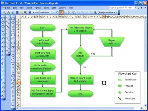 flow diagram freeware flowbreeze standard flowchart software v1 3 48 shareware
