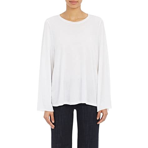 swing tee shirts helmut lang women s swing t shirt in white lyst