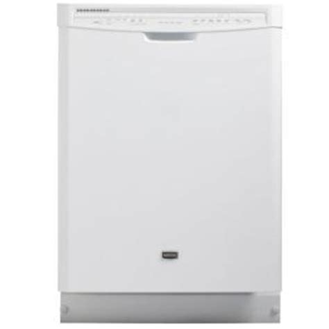 maytag jetclean plus front dishwasher in white