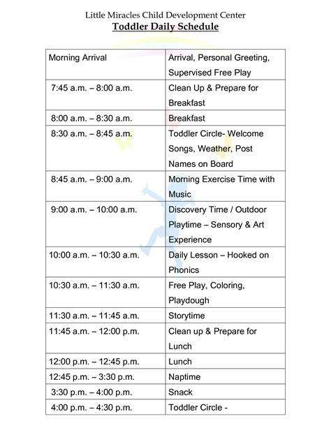 Daily Baby Schedules Best Photos Of Daily Baby Schedule Printable Baby Daily