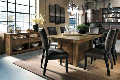 sommerford brown rectangular dining room table