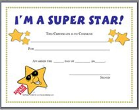 printable star of the day certificates blank certificate templates for students star