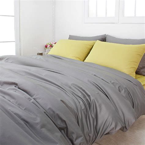 king comforter cover 820tc high quality solid gray king duvet cover set by bhdecor