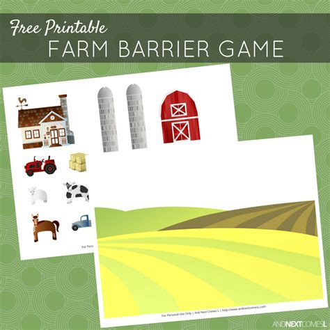 printable barrier games free printable farm barrier game for speech therapy and