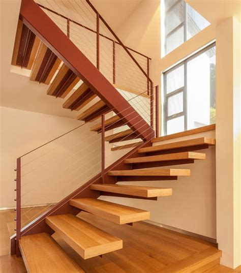 wooden stairs suspended style 32 floating staircase ideas for the contemporary home