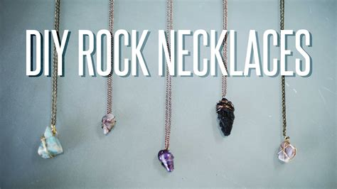 how to make jewelry from rocks diy wire wrapped rock necklace