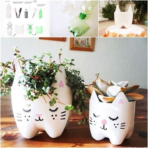 Diy Plastic Planter by How To Diy Cutest Cat Planter From Plastic Bottles Http
