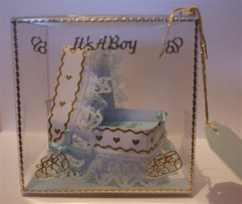 Baby Crib Card Template by Baby Crib Template Complete With Display Box