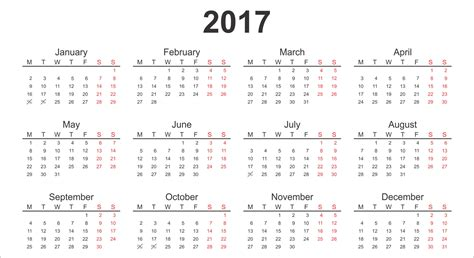 The Calendar For 2017 Calendar 2017 Printable Calendars Of 2017 For Free