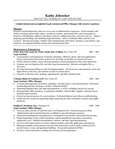 Resume Sles For Paralegal Assistants Resume Sle Paralegal Resume Sle 28 Images 6 Cover Letter For School Science Resume Resume