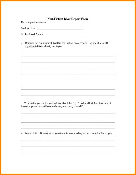7 usmc book report format lease letter