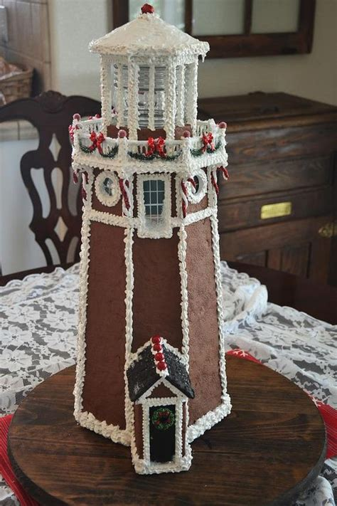 lovely lighthouse  awesome gingerbread house ideas