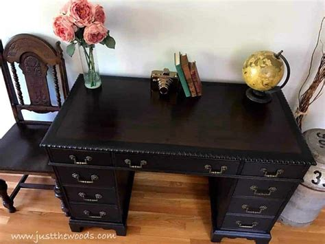 how to save the leather top on a vintage desk by just the