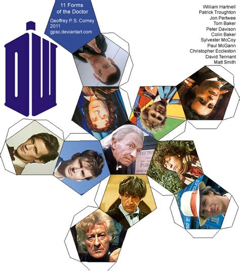 doctor who template doctor who dodecahedron template by gpsc on deviantart