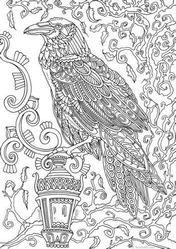 holidays raven printable adult coloring coloring book