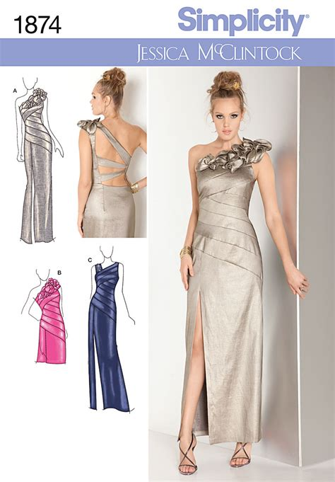simplicity  bridesmaid prom evening dress gown sewing