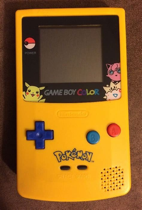 gameboy color ebay limited edition yellow boy color console