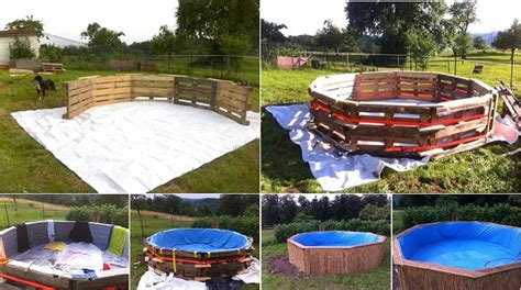 how to make a swimming pool in your backyard make a beautiful swimming pool with 10 old pallets and 80