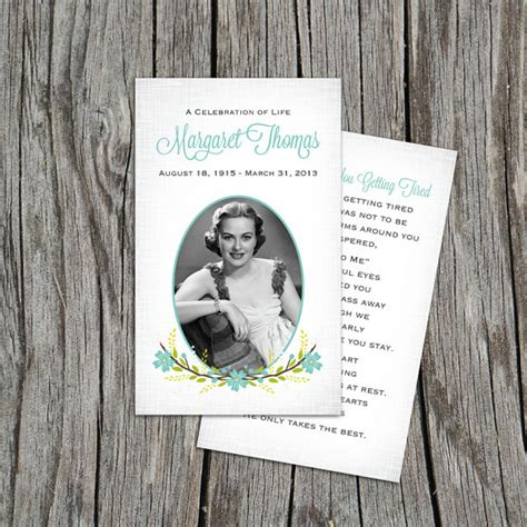 blank funeral prayer card template funeral program template