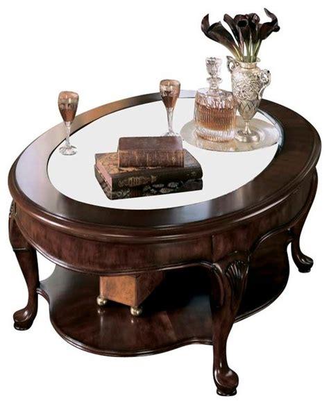 Drew Cherry Grove Coffee Table Set In Antique